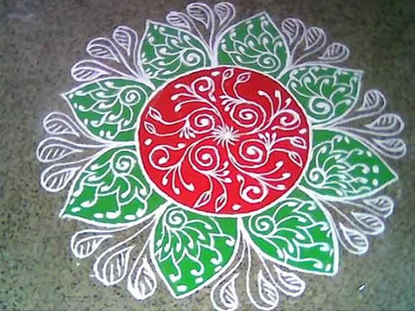 new rangoli designs with dots