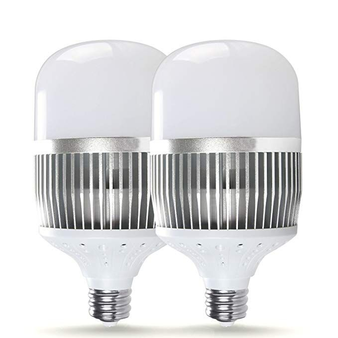Sunthin 2 Pack Super Bright 500w Equivalent Metal Halide 60w Led Bulb E39 Large Screw Base Commercial Retrofit Light Bulb 5400lm Da Led Bulb Light Bulb Bulb