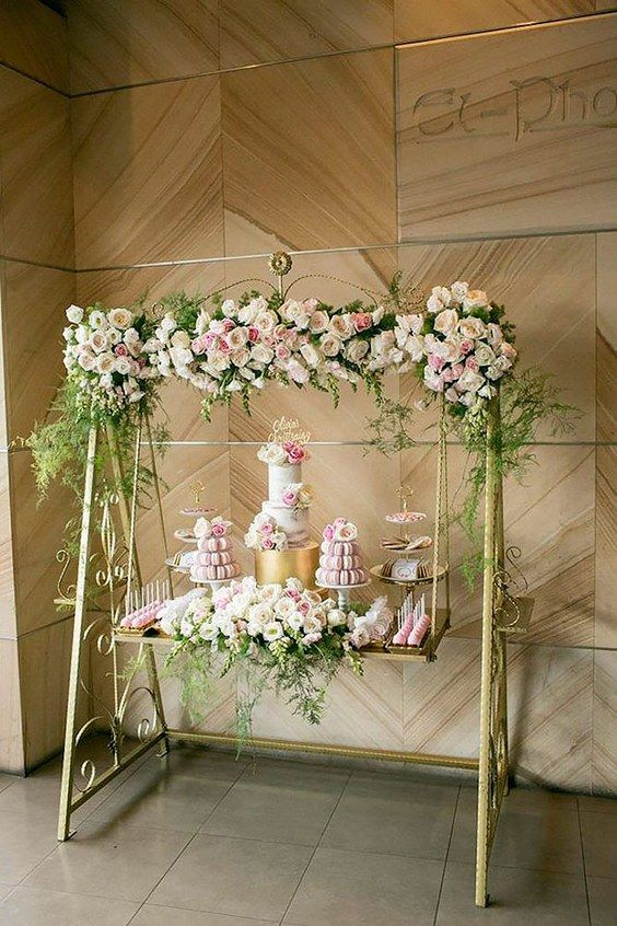 hanging wedding dessert table ideas / http://www.himisspuff.com/wedding-dessert-tables-displays/5/