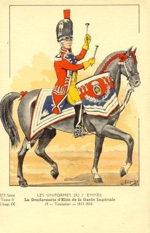 Imperial Guard; Gendarmes d'Elite, Kettle Drummer 1804-06