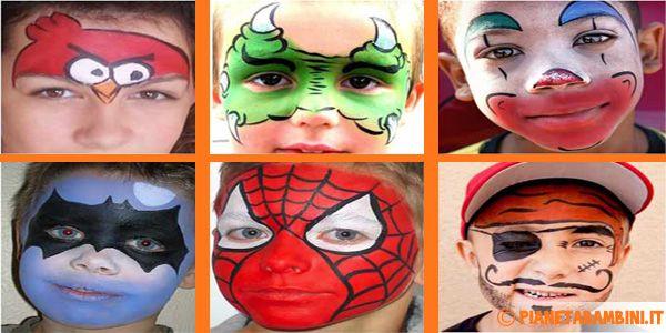 Trucco del Viso di Bambini per Carnevale: 50 Idee con Foto