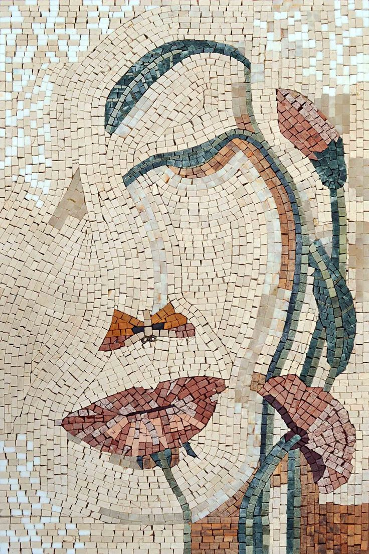 Mosaic application murals application wall panel application kitchen - Aegan Goddess Stone Mosaic Art Ms597 Email To A Friend Share Facebook Share On Twitter
