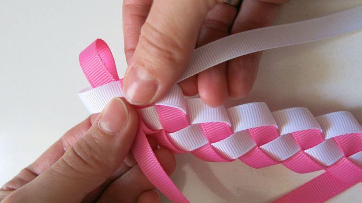 ribbon - hair band DIY szalag hajpánt