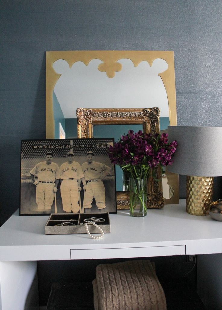 Make a Fun Paper Frame for a Frameless Mirror with the help of Modern Masters Metallic Paint | Kara Paslay Designs