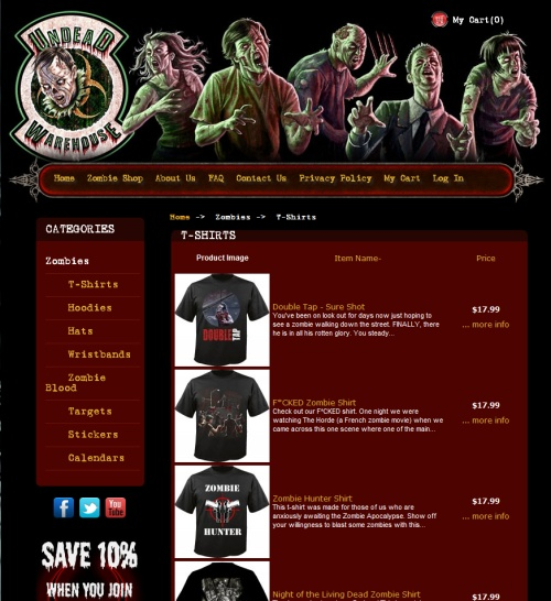 Enter to win a free zombie t-shirt courtesy of Undead ...