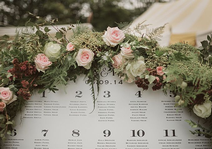 "we'll not have flowers around the table plan but i liked this with the ceremony ""wall"" of flowers in mind"