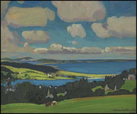 J.E.H. Macdonald - Shores at Petite Rivière Nova Scotia 8.5 x 10.5