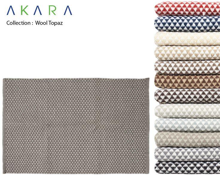 Tappeto fatto a mano in lana a motivi geometrici su misura WOOL TOPAZ - Akara