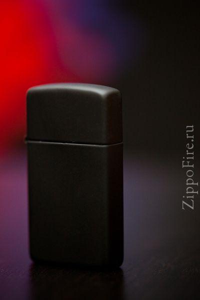 Zippo Slim Black Matte Zippo Slim Black Matte 1618