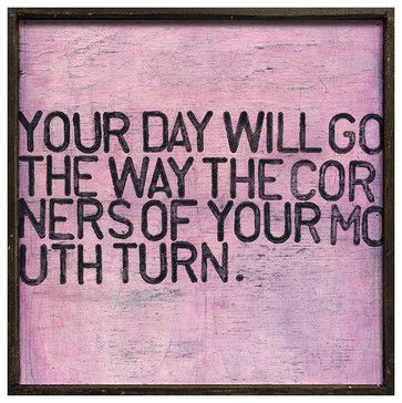 Your Day Will Go' Pink Distressed Reclaimed Wood Wall Art - Small - transitional - Novelty Signs - Kathy Kuo Home