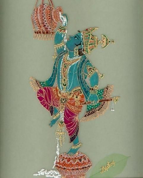 .krishna and butter