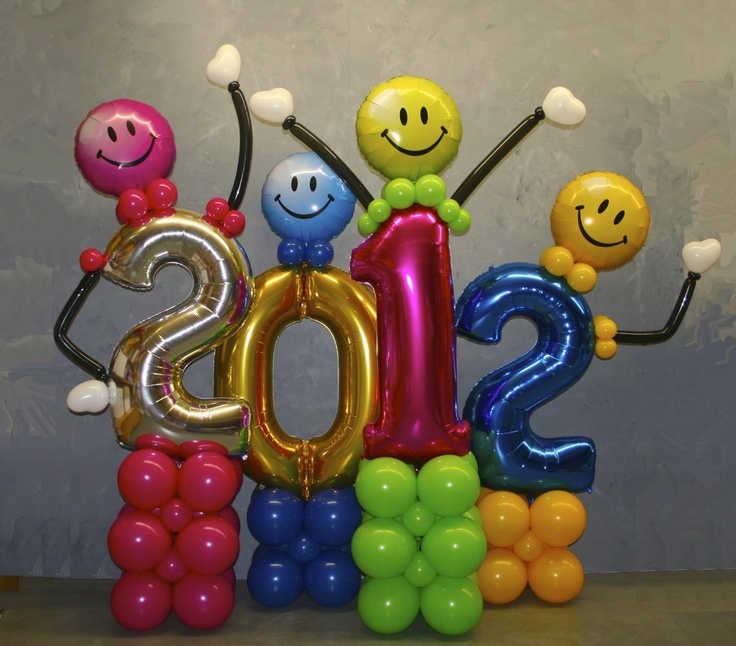 The Very Best Balloon Blog: ' New Years' design from Luc Bertrand