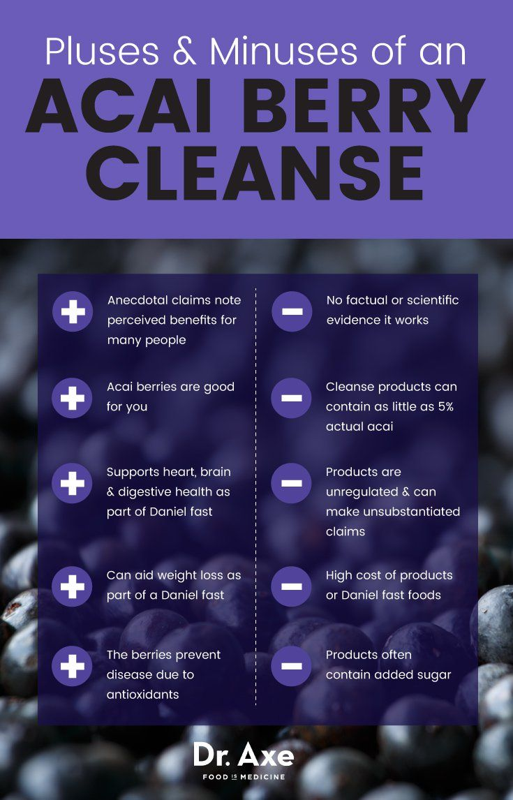 Acai berry cleanse pluses and minuses - Dr. Axe