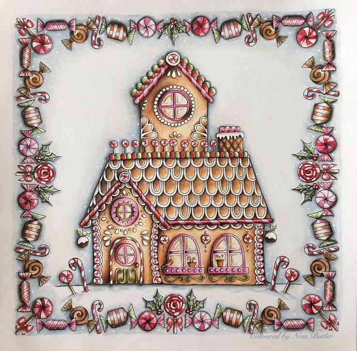 Johanna Basford/ Johanna's Christmas/ Ness Butler/ polychromos Pencils/ faber Castell/ colouring book/