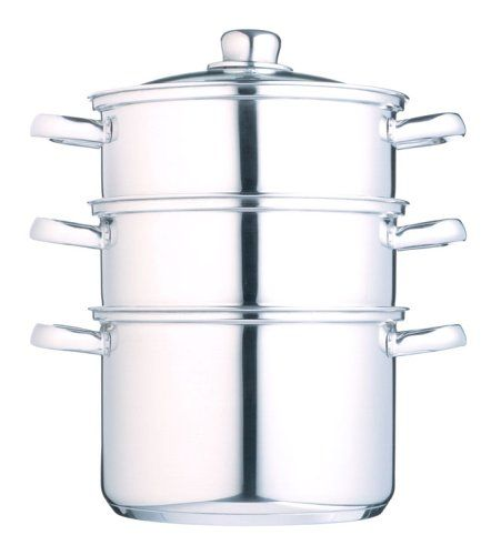 18cm 3 Tier Steamer - http://cookware.everythingreviews.net/9276/18cm-3-tier-steamer.html
