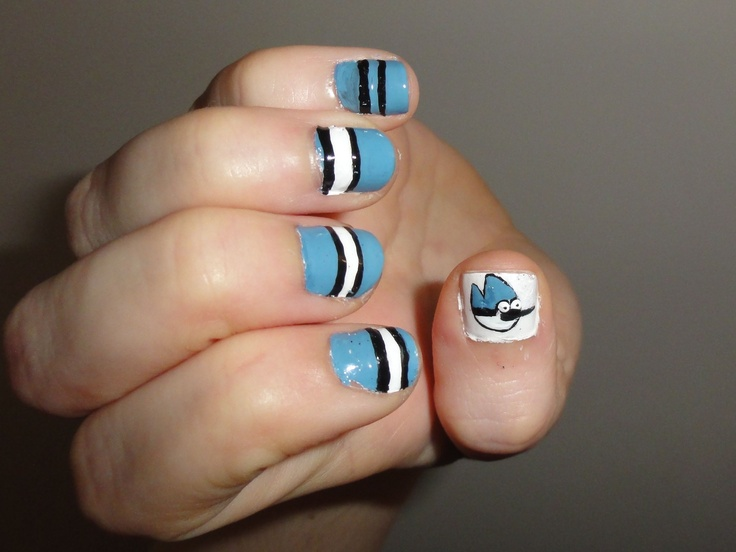 40 best kids nails images on pinterest kid nails 2nd birthday mordecai regular show nails prinsesfo Choice Image