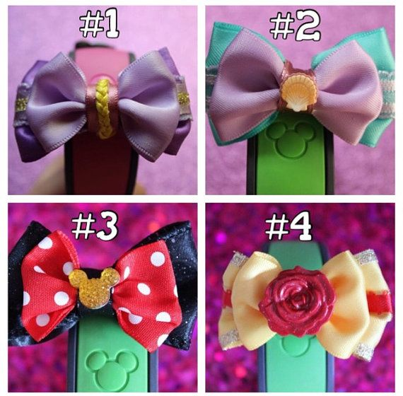 Bows to decorate your disney magic bands! Too cute