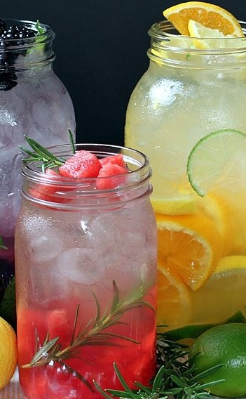Naturally Flavored Water. Several recipes to try. http://www.theyummylife.com/Flavored_Water