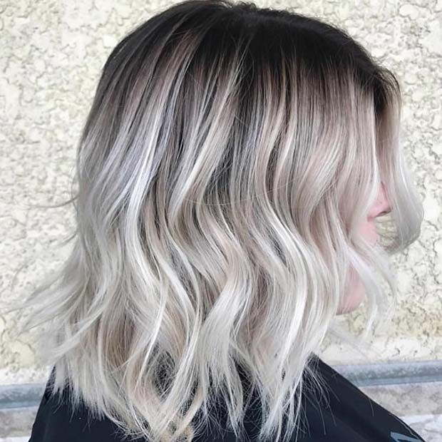 21 Chic Examples Of Black Hair With Blonde Highlights Page 2 Of 2 Stayglam Black Hair With Blonde Highlights Silver Blonde Hair Silver Blonde