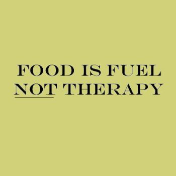 Practice mindful eating & think about what you are fueling your body for.