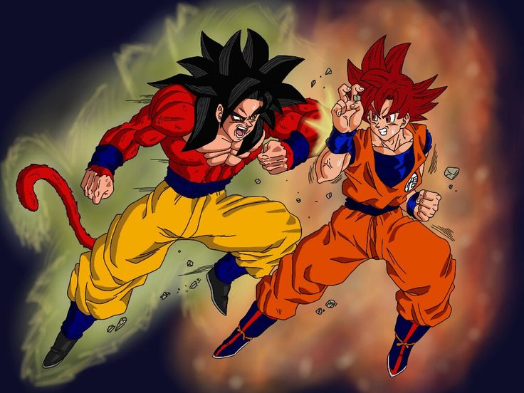 Super sayian 4 vs super sayian god goku battle