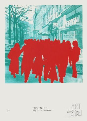 Boulevard Des ItaIIens : La Jeunesse En Mouvement Limited Edition by Gérard Fromanger at Art.com