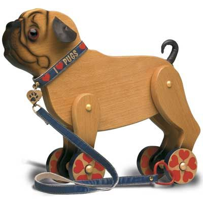 Pug Pull Toy~ re-pinned by pugaddict.com dog breed personal checks and stationery, gifts and home decor.