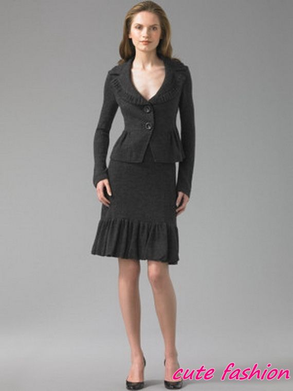 Pair the leather skirt with a great suit jacket andboots, or tights and chunky heeled shoes.