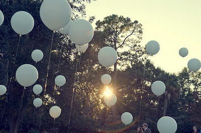 celebrate!: Helium Balloon, Outdoor Wedding, Wedding Trends, White Balloon, Wedding Balloon, Wedding Ideas, Outdoor Events, Balloons, Wedding Ceremony