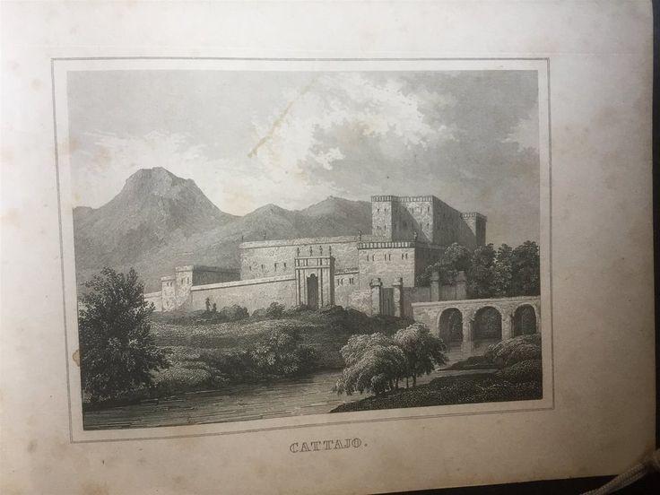 Annons på Tradera: Catajo Padova Antik Etsning Topografisk Plansch 1840 Das kleine Universum