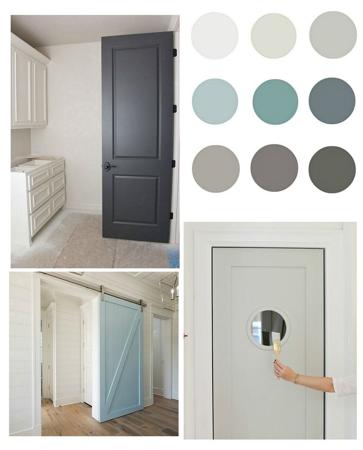 List of beautiful paint colors for painting interior doors.