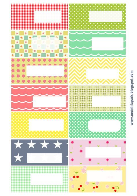 Free printable pattern tags and labels ♥ ausdruckbare Etiketten ♥ freebie | MeinLilaPark – digital freebies