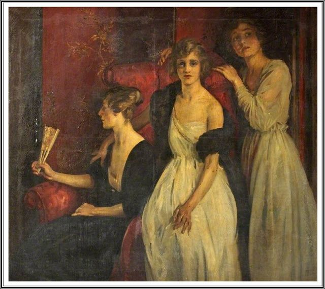 William Bruce Ellis Ranken (1881-1941) , Rouge et Noir - 1920