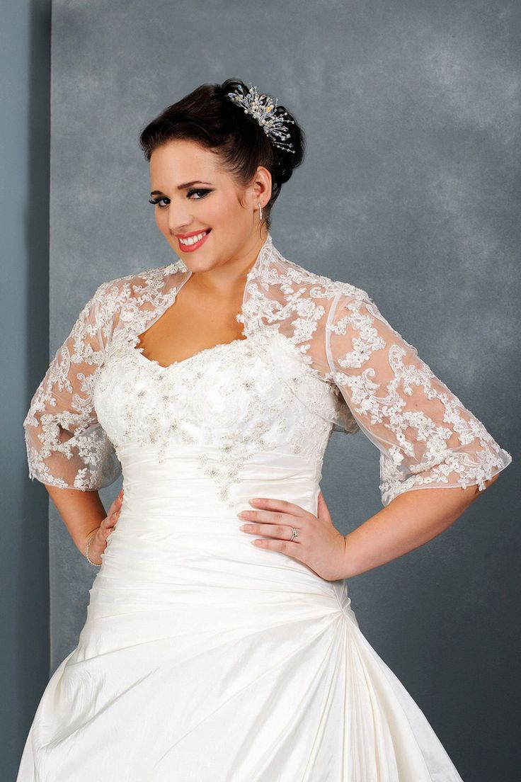 Half Length Sleeve Tulle Wedding Jacket With Applique