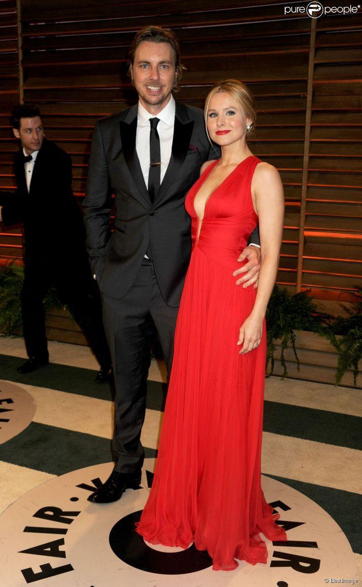 Dax Shepard et Kristen Bell - People à la soirée Vanity fair après les Oscars 2014 à West Hollywood. Le 2 mars 2014