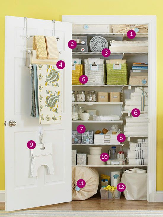 Organized Linen Closet - Organized Linen Closet - Linen closets are not just for linens! They store cleaning supplies, paper products, medications, toiletries, home maintenance items… the list goes on and on and varies from home to home. So how does one make the most of a single closet that must function so big and work so hard?