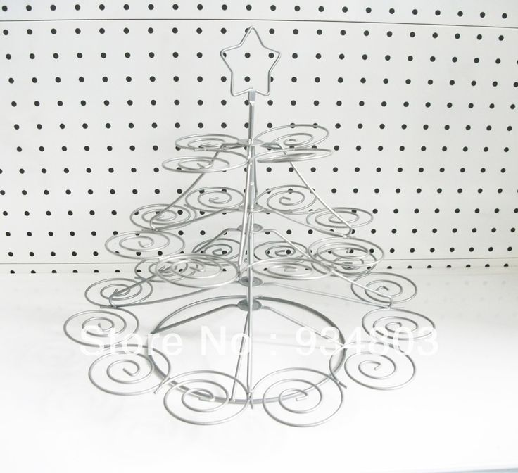 High-quality metal cupcake stand christmas stree with 3 tiers to hold 24 wedding cupcakes $20.00