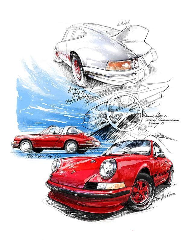 Porsche 911 Carrera - 1963 | Classiccar-art