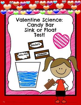 In this lab activity, the students will be testing 3 different types of candy bars to see if they will sink or float. This activity comes with student pages that have them follow the scientific method. Students will be predicting, recording observations/results, drawing conclusions and illustrating!