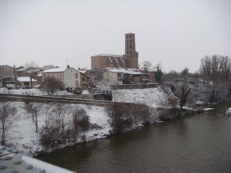 Buzet vu du pont du Tarn