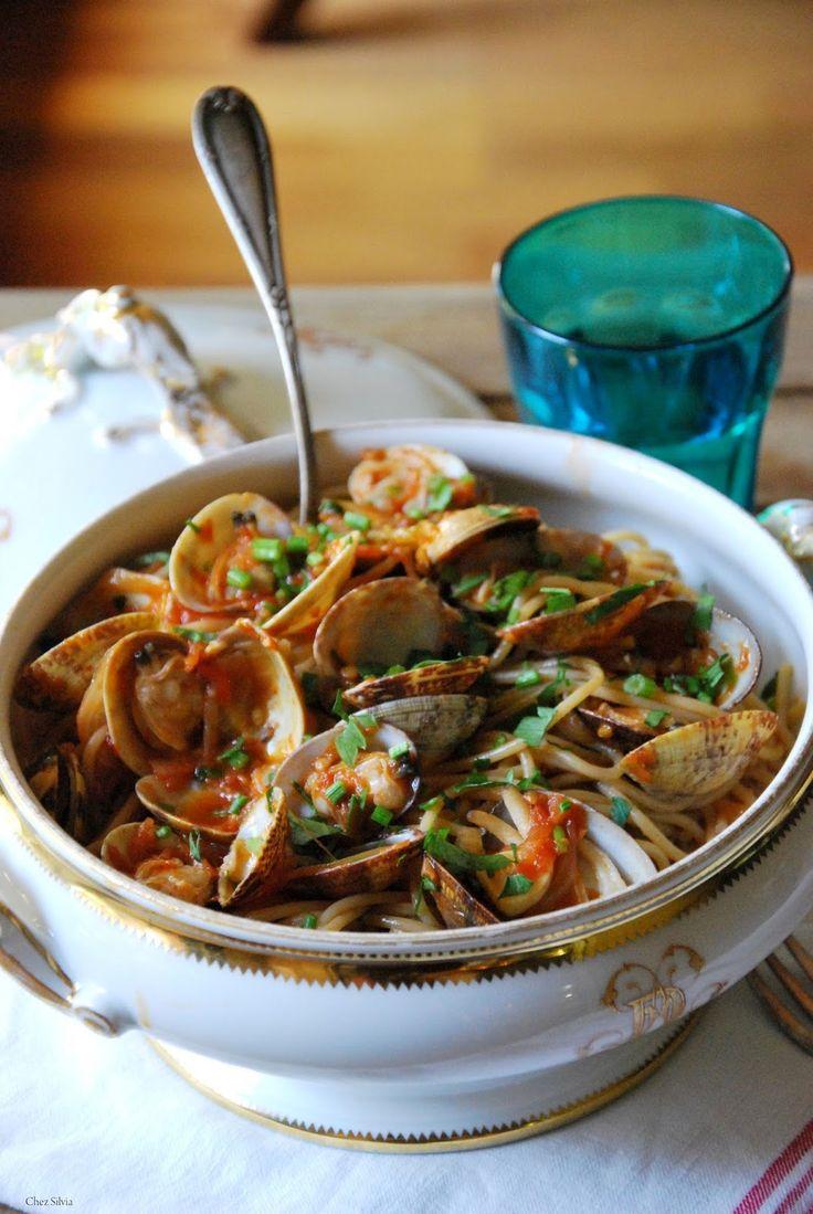 CHEZ SILVIA: Espaguetis a la Vongole