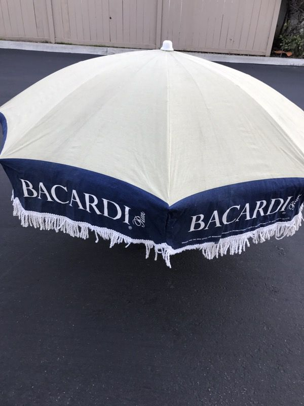 Used Normal Wear Patio Umbrella For Bacardi 70 Hardly