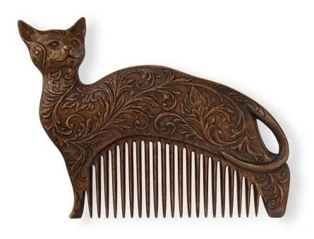 Art Nouveau Cat Comb