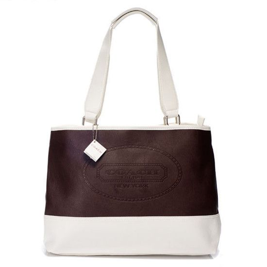 Coach Hamptons Weekend Perforated Medium Coffee Tote AGC ($360)