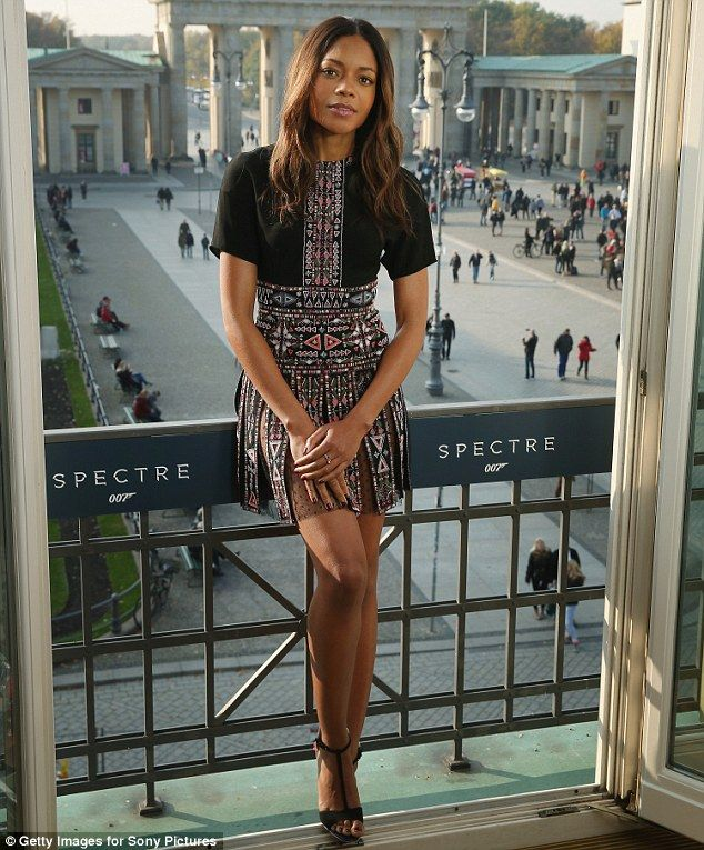 Naomie Harris in #Valentino Resort 2016 as she attended the German photocall, which was held at Hotel Adlon prior to the movie's premiere on October 28, 2015