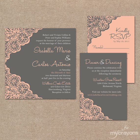 Best 25 Pink Wedding Invitation Sets Ideas On Pinterest