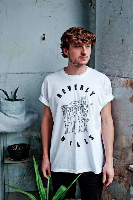 BEVERLY HILLS T-shirt  http://luksodrome.com  photo by Ziebo  #luksodrome #t-shirt #ziebo #photoshoot #london #poland #white #handsome #man #beverly #hills #beverly hills
