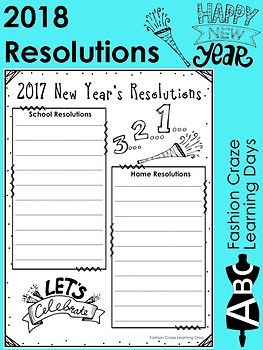 new years resolution 2018 new year resources activities pinterest student goals graphic organizers and students