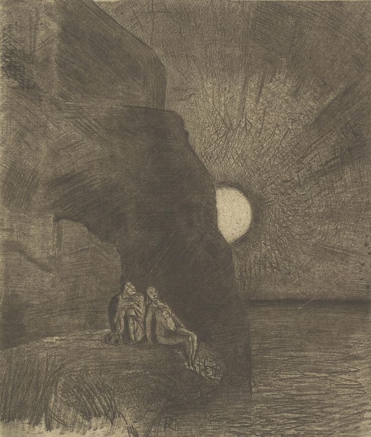 At my side the Demon writhes forever (The Flowers of Evil) by Odilon Redon