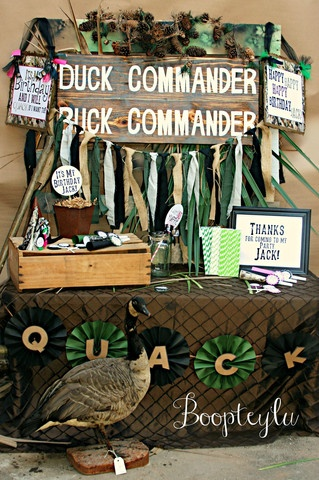 Duck Dynasty inspired birthday party . Beards for the kids  would be awesome